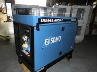 6.5 kVA SDMO, Super Silent Diesel Gen c/w Sockets on Wheels