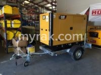 33 kVA Caterpillar DE33EO with CAT3.3 Engine Mounted on NEW Trailer