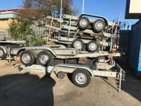 10 x As New Knott 2 Axle Generator Trailers 2.7 Tonne And 3.5 Tonne