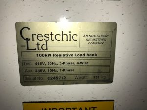 100 Kw Crestchic Load Bank As New