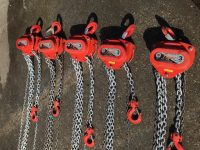2 X 3 Ton 6m Tiger Chain Hoists (Block & Tackle) All checked