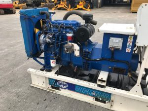 60 kVA FG Wilson Skid Mounted Open Set