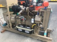 110 kVA Cummins Skid Mounted Open Set, Only 25 Hours