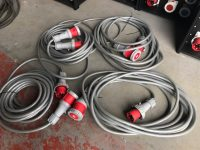 63Amp 10M Extension Lead With 5Pin Plug And Trailing Socket And HO7 Leads
