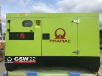 22 KVA PRAMAC GSW22 PERKINS ENGINE AUTO START PANEL STAGE 111A EMISSIONS COMPLIANT