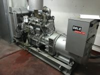 110 KVA DALE GENERATING PLANT SKID MOUNTED OPEN SET WITH VOLVO ENGINE, ONLY 260 HOURS
