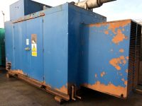 Used Generator Container with side doors, complete with exhausts