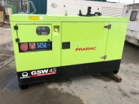2014 45KVA PRAMAC SILENT DIESEL GENERATOR GSW45 WITH PERKINS ENGINE & SOCKETS