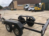 USED 3500KGS TWIN AXLE TRAILER SUITABLE FOR GENERATOR