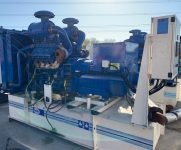550KVA FG WILSON SKID MOUNTED OPEN SET WITH PERKINS ENGINE. LOW HOURS. 2 IN STOCK