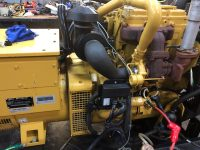 50KVA CATERPILLAR OLYMPIAN SKID MOUNTED OPEN SET WITH PERKINS HOURS WITH LOW HOURS
