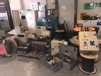 SELECTION OF USED ATS PANELS, CABLE, CONTROL PANELS & TOOLS TO CLEAR