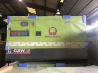 NEW 45KVA PRAMAC SILENT DIESEL GENERATOR WITH PERKINS ENGINE GSW45