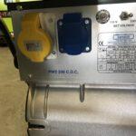 200AMP HONDA POWERED WELDER ON TROLLEY WITH 5KVA 110/240V POWER SOCKETS
