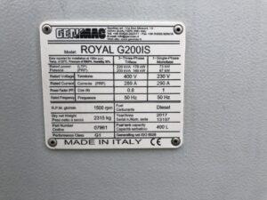220 Genmac G200IS, 2017