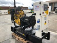 30KVA BROADCROWN SKID MOUNTED OPEN GENERATOR WITH JOHN DEERE ENGINE WITH 131 HOURS