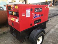 YEAR 2006 15KVA GENSET SILENT DIESEL GENERATOR WITH KUBOTA ENGINE ON FAST TOW TRAILER