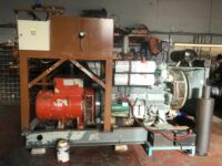 200KVA VOLVO SKID MOUNTED OPEN GENERATOR WITH 500 HOURS – RUNS LIKE NEW