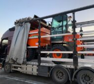 CATERPILLAR 428F loaded for POLAND