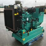 110KVA CUMMINS SKID MOUNTED OPEN SET GENERATOR WITH ONLY 52 HOURS