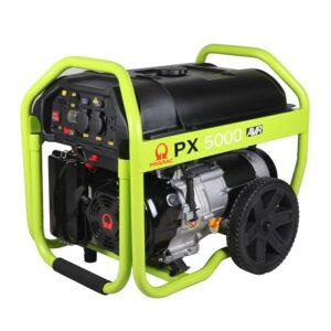 4KVA PRAMAC PX5000 SEMI SILENT PETROL POWERED GENERATOR ON WHEELS