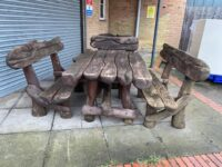 Antique Unique Wooden Garden Furniture.