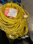 Pallet of 110V Extension Leads – 14m Long w/ 16A Plug and Trailing Socket
